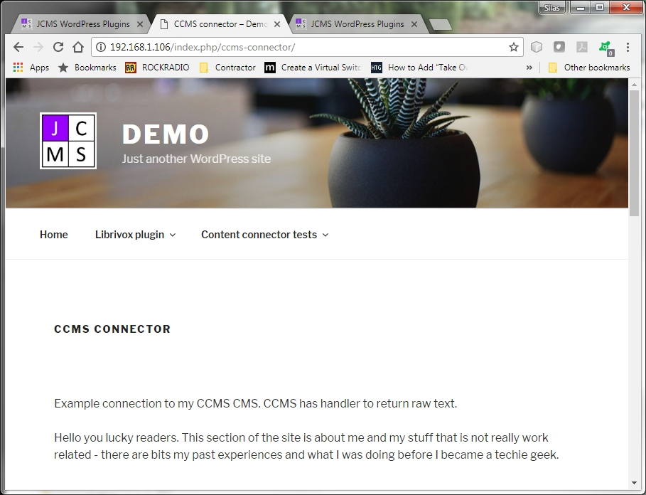 Remote CMS content in WordPress context